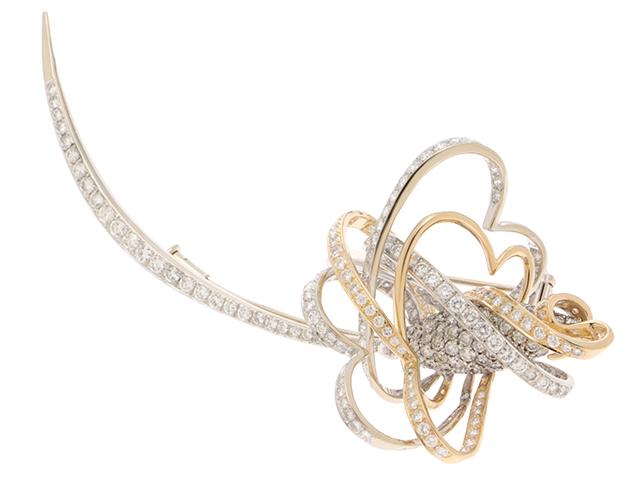 JEWELRY ノンブランドジュエリー ブローチ K18 18WG ダイヤモンド5.70ct 23.4g 【436】