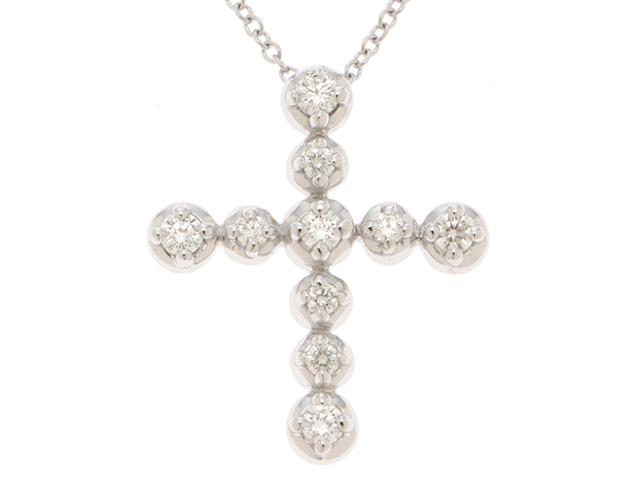 ティファニー ネックレス テンダネスネックレス K18ホワイトゴールド ダイヤモンド【204】