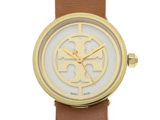 TORY BURCH トリーバーチ レディース 女性用腕時計 ゴールド ブラウン 革ベルト クオーツ TRB4004 【474】