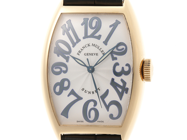 FRANCK MULLER フランクミュラー 時計 サンセット 5850SC シルバー文字盤 YG/革 男性用時計(2148103234019)【432】