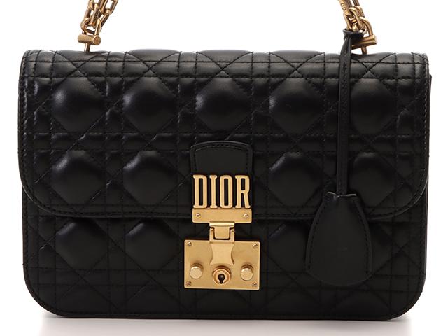 Dior ディオール チェーンショルダー ブラック ラムスキン M5817CNMJ 【432】