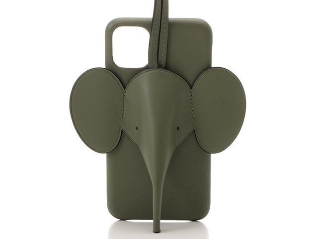 LOEWE ロエベ 携帯カバー エレファント iPhone11カバー アボカドグリーン カーフ C719C80X01【430】2148103256981