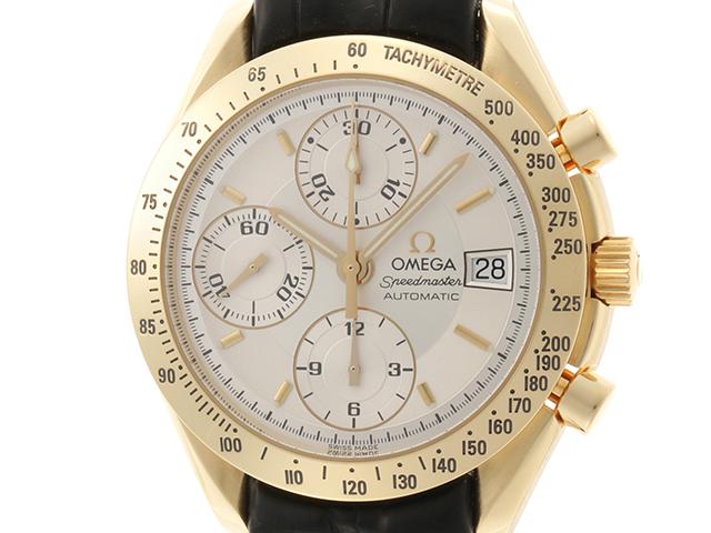 OMEGA オメガ スピードマスター デイト 3613.30.31 18Kイエローゴールド 革 オートマチック メンズ 【432】