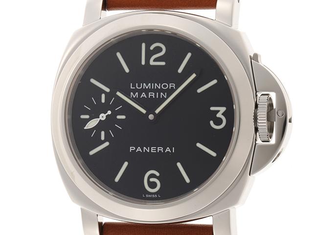 PANERAI パネライ ルミノールマリーナ PAM00111 ステンレススティール 革 手巻き メンズ時計 【437】