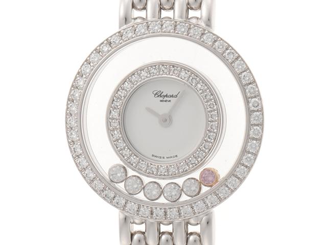 Chopard ショパール 女性腕時計 ハッピーダイヤモンド  20/S5691 ホワイトゴールド ダイヤベゼル 6Pダイヤモンド クォーツ【437】