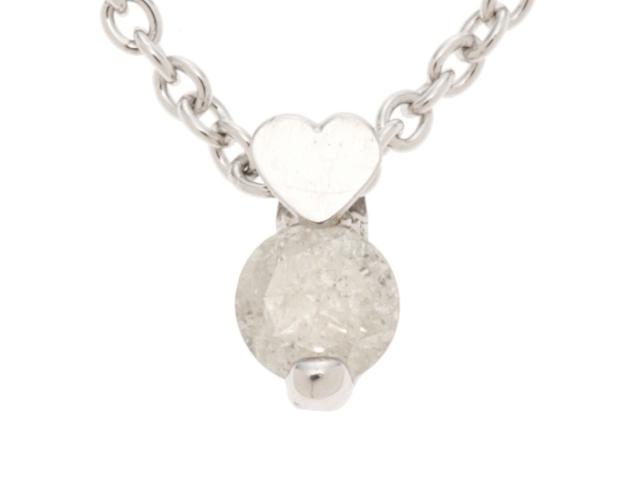 JEWELRY ノンブランドジュエリー ネックレス シルバー(SV925) ダイヤモンド(D0.10ct) 1.1g【410】2148103288685