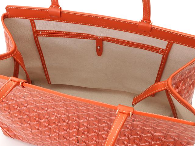GOYARD ゴヤール ペルシャスPM オレンジ  PVC/レザー[430]2148103324420 image number 6