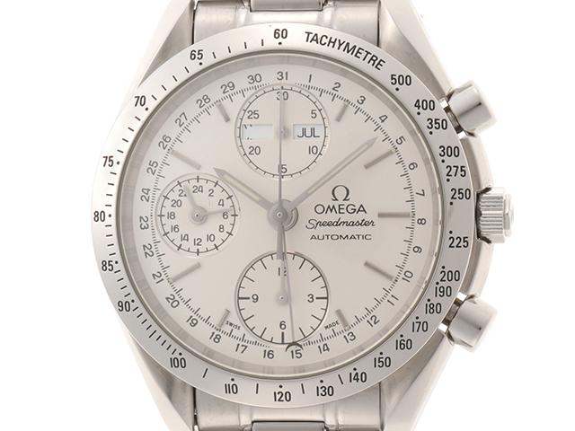 OMEGA オメガ 時計 スピードマスターデイデイト 3521.30 自動巻き シルバー文字盤 SS 男性用時計 2148103336126【430】