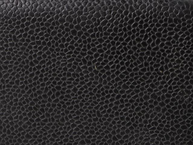 シャネル CHANEL 復刻トート  ブラック/シルバー色金具/キャビア 【472】KS image number 6