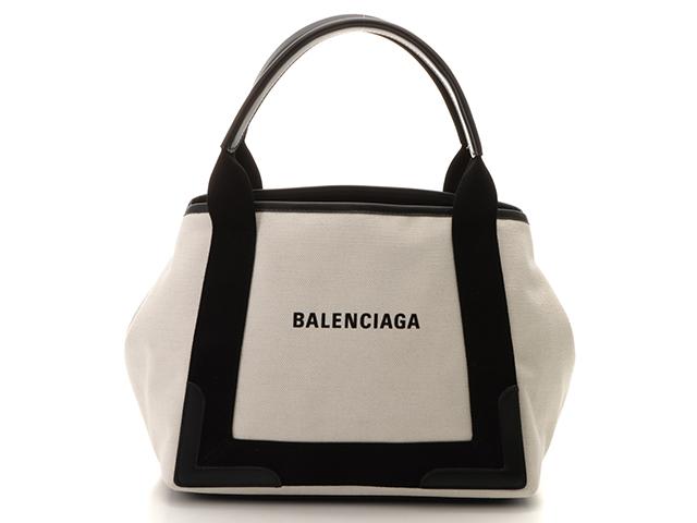BALENCIAGA バレンシアガ トートバッグ ネイビーカバS  ブラック/ホワイト 339933【432】