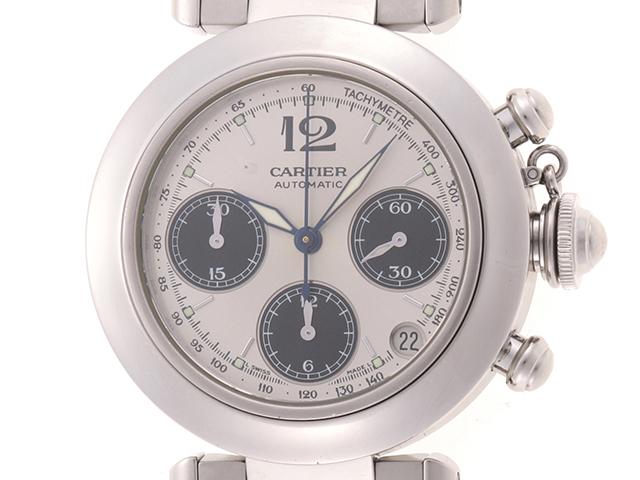 Cartier カルティエ 時計 パシャC クロノグラフ W31048M7 自動巻き時計 シルバー文字盤 ステンレス 男性用 2148103341199【430】