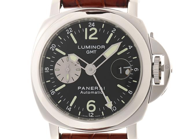 PANERAI パネライ ルミノール  GMT メンズ オートマチック SS 革/ラバーベルト OP6691 PAM00088【460】HU