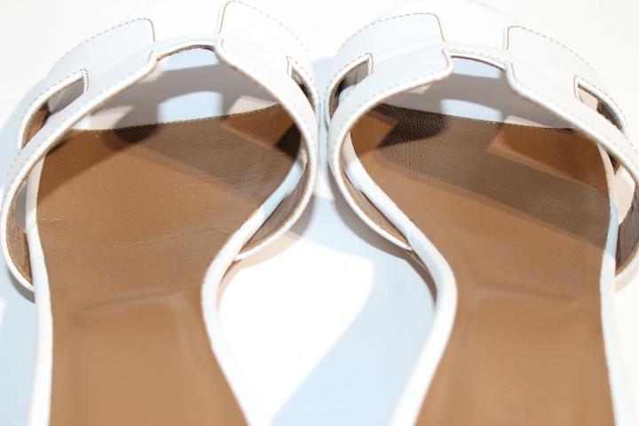 HERMES エルメス ミュール オアジス サンダル レディース36 約23cm ホワイト レザー 2148103356766【200】 image number 6