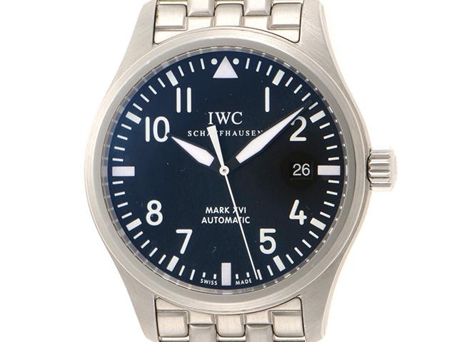 IWC パイロットウォッチ マーク16 IW325504 ブラック メンズ 自動巻き ステンレス SS (2148103358685)【430】