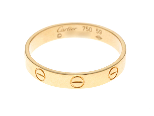 Cartier カルティエ 指輪 ミニラブリング イエローゴールド(K18YG) 2148103377778【430】
