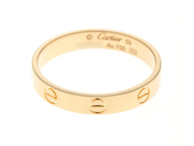 Cartier カルティエ 指輪 ミニラブリング K18イエローゴールド 約19号 【437】