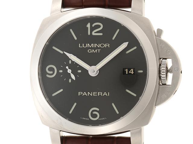 PANERAI パネライ ルミノール1950 GMT PAM00320 ブラック文字盤 SS/革 オートマチック 【432】