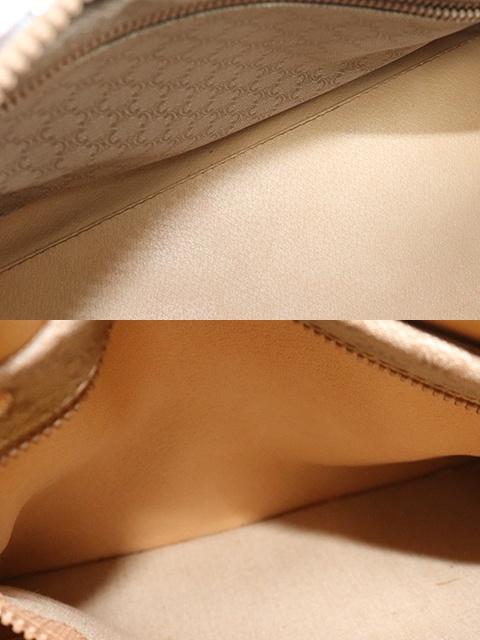 CELINE セリーヌ マカダム ボストンバッグ ブラウン ベージュ PVC レザー 【471】 image number 8