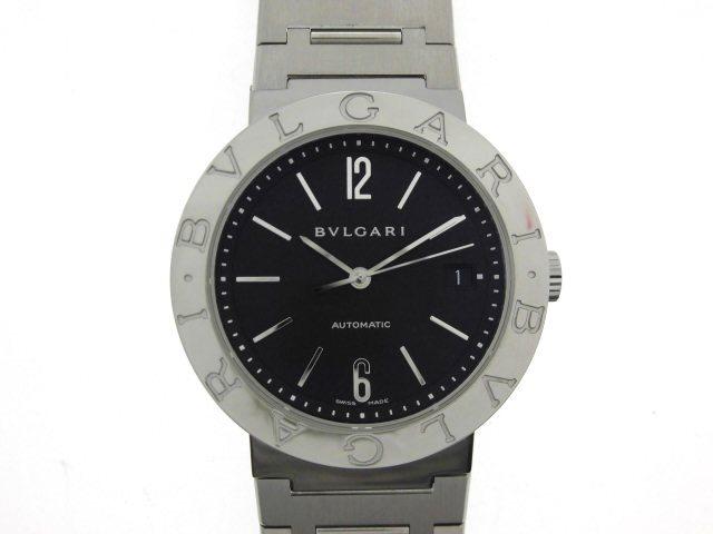 BVLGARI ブルガリ ブルガリブルガリ 自動巻き オートマチック ステンレススチール ブラック文字盤 メンズ腕時計 BB38SSAUTO 【432】