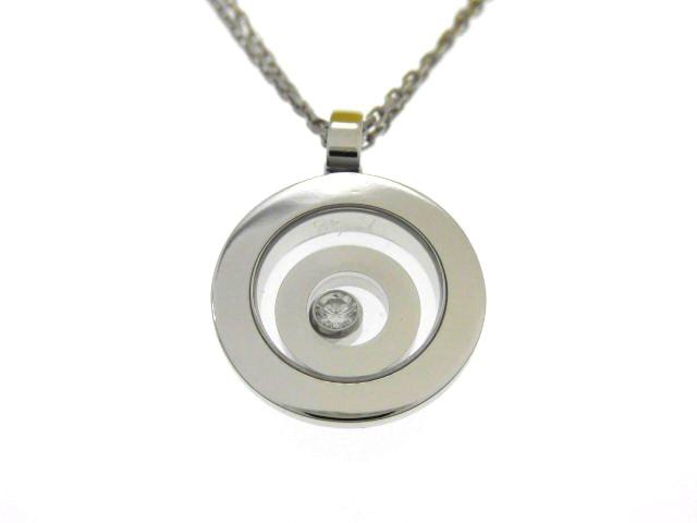Chopard ショパール ハッピースピリットペンダント ネックレス 1Pダイヤモンド K18ホワイトゴールド 13.9g 79/5405-02 【474】