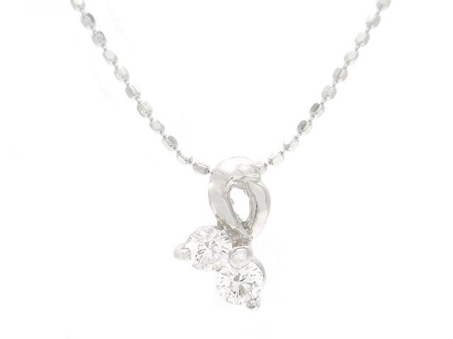 JEWELRY ノンブランドジュエリー ダイヤネックレス ホワイトゴールド K18WG ダイヤモンド 0.2ct 1.5g 【200】