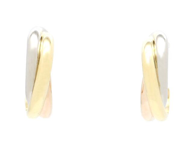 Cartier カルティエ 貴金属・宝石 トリニティピアス 3カラー イエローゴールド ピンクゴールド ホワイトゴールド 4.6g B8017100 2120000178474 【200】