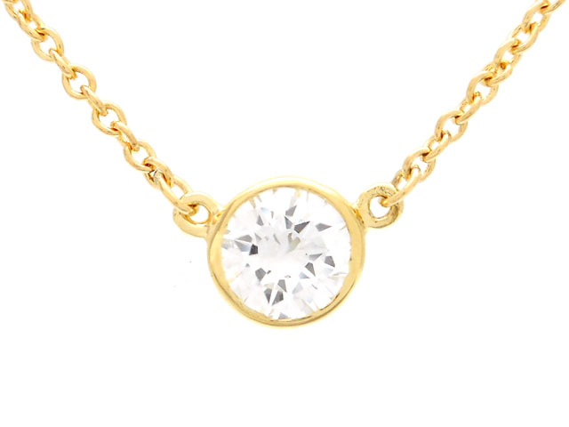 TIFFANY&CO ティファニー 貴金属・宝石 バイザヤードネックレス イエローゴールド K18YG ダイヤモンド 1.7g 【200】