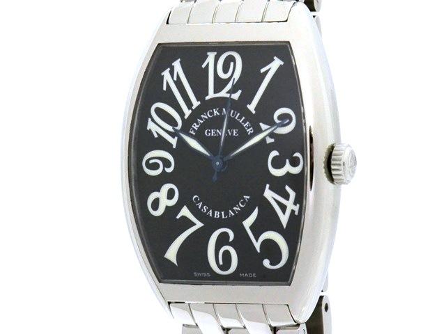 FRANCK MULLER フランク・ミュラー カサブランカ 6850 ステンレス ブラック文字盤 男性用自動巻時計【473】
