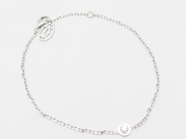 Cartier カルティエ ブレスレット ディアマンレジェ K18WG ホワイトゴールド ダイヤモンド 【435】