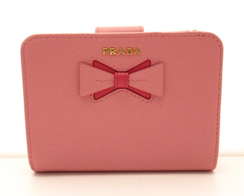 PRADA プラダ 二つ折L型LIP財布 ピンク サフィアーノ 1ML018【430】2147000131735