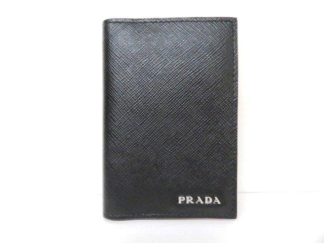 プラダ サフィアーノ カードケース ブラック 【204】