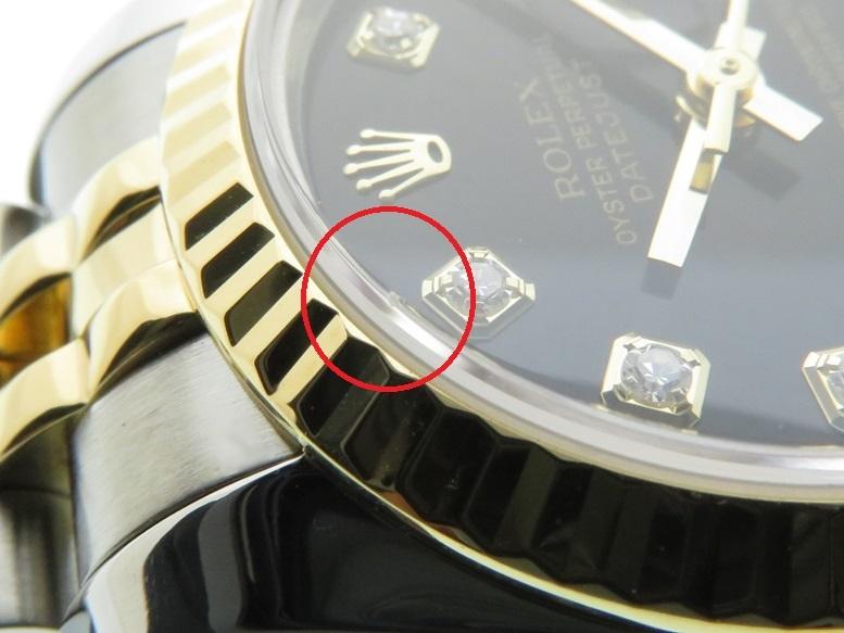 D番 2005年頃製造品 ROLEX ロレックス デイトジャスト 179173G ブラック10Pダイヤ文字盤 YG/SS イエローゴールド/ステンレス 自動巻き 日付表示 レディースウォッチ 時計【204】 image number 7