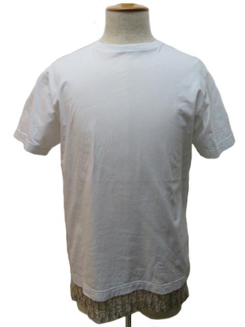 Dior Homme ディオール オム Tシャツ メンズ XS ホワイト コットン 【432】