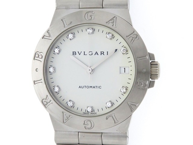 BVLGARI ブルガリ ディアゴノ スポーツ LCV35S ホワイト メンズ 自動巻き ステンレス SS (2148103293726) 【430】