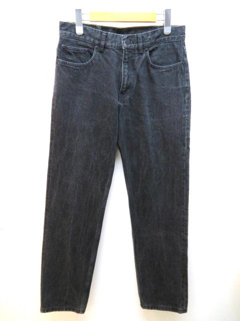 LOUIS VUITTON ルイヴィトン デニム パンツ メンズ 28 ブラック コットン 【200】