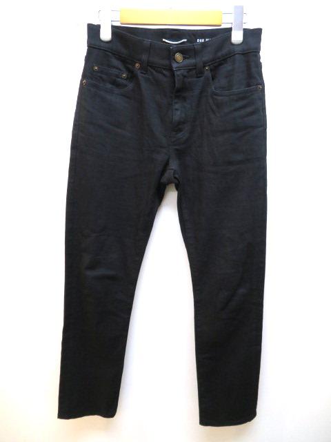 SAINT LAURENT デニム パンツ メンズ 27 ブラック コットン 【432】