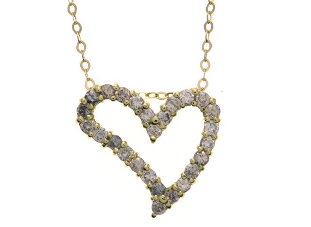 JEWELRY ノンブランド 貴金属・宝石 ネックレス ハートモチーフ K18イエローゴールド ダイヤモンド 0.50ct 【205】