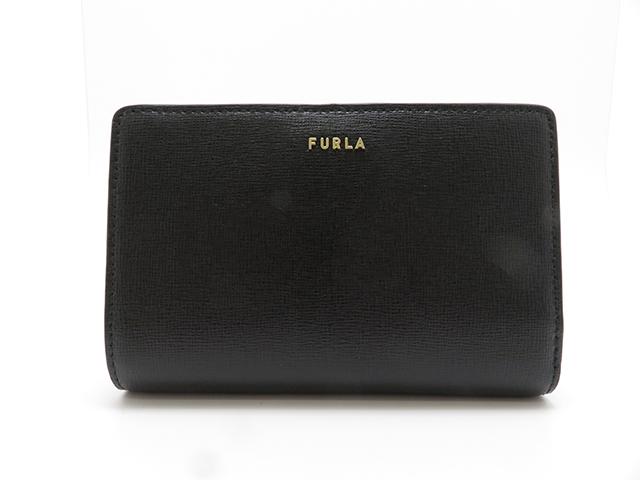 FURLA フルラ 財布 バビロン 二つ折り財布 ブラック レザー【430】2148103216336