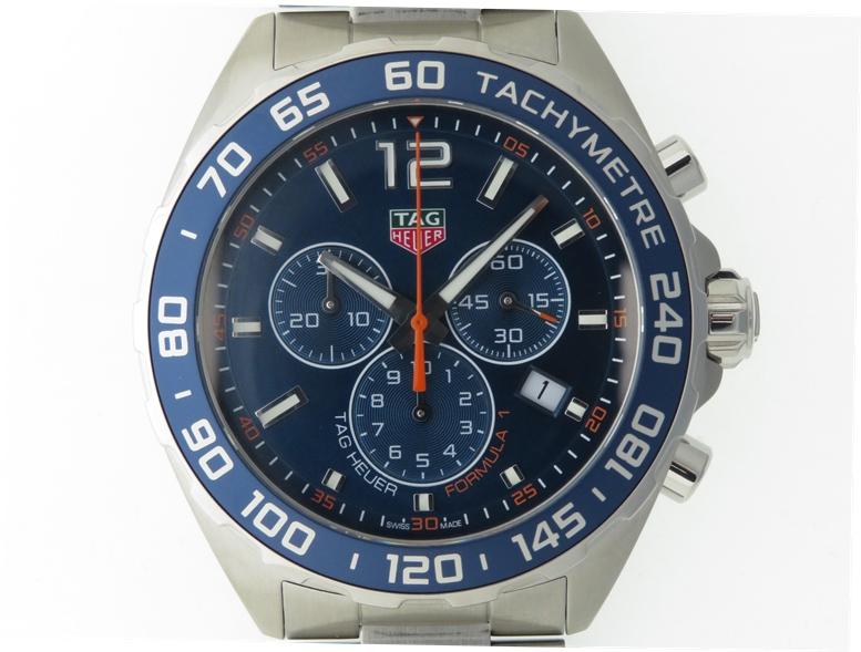 TAG HEUER タグホイヤー フォーミュラ1 クロノグラフ CAZ1014.BA0842 ブルー文字盤 SS ステンレス クオーツ 日付表示 メンズウォッチ 時計【204】