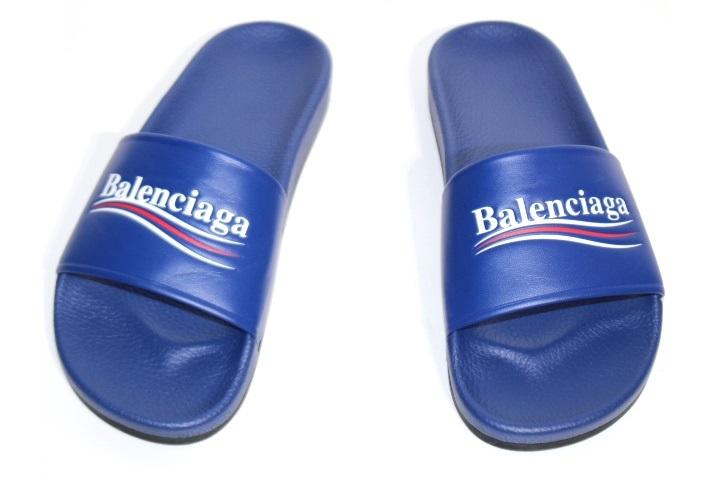 BALENCIAGA バレンシアガ サンダル メンズ41 ブルー レザー (2148103311741)【200】