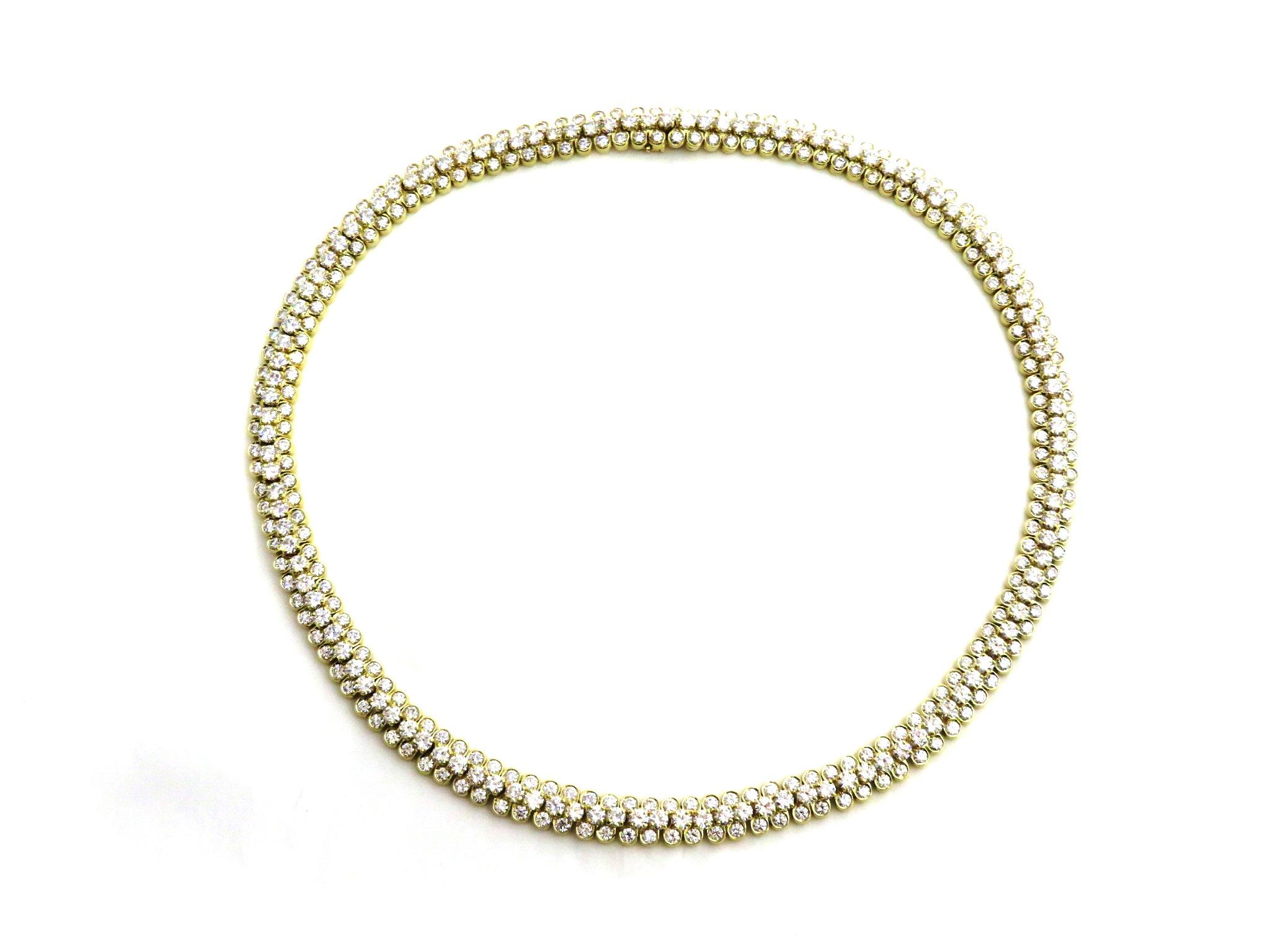 Van Cleef&Arpels ヴァンクリーフ&アーペル ネックレス デザインネックレス イエローゴールド ダイヤモンド 重量約50.6g SJ【472】