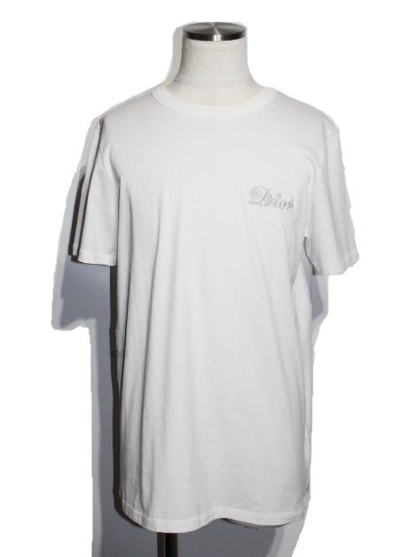 Dior ディオール DIOR AND KENNY SCHARF Tシャツ メンズM ホワイト コットン 参考定価¥97,900- 2021年 (2148103384943)【200】
