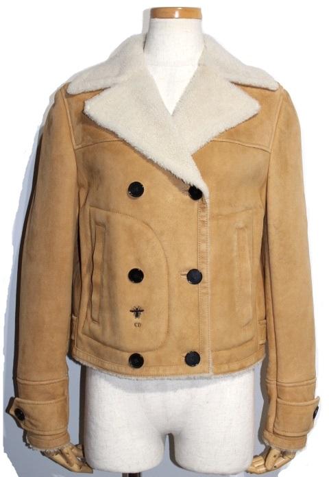 Dior ディオール ジャケット レディース34 ベージュ ラム 羊革 048V23AL825_X1445 2020年 参考定価¥693,000 (2141300259915)【200】