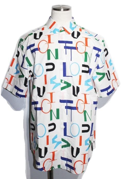 LOUIS VUITTON ルイ・ヴィトン LV エレクトリック レギュラー DNA 半袖シャツ メンズXXLサイズ ホワイト LVロゴ コットン 2020年 (2148103318054)【200】