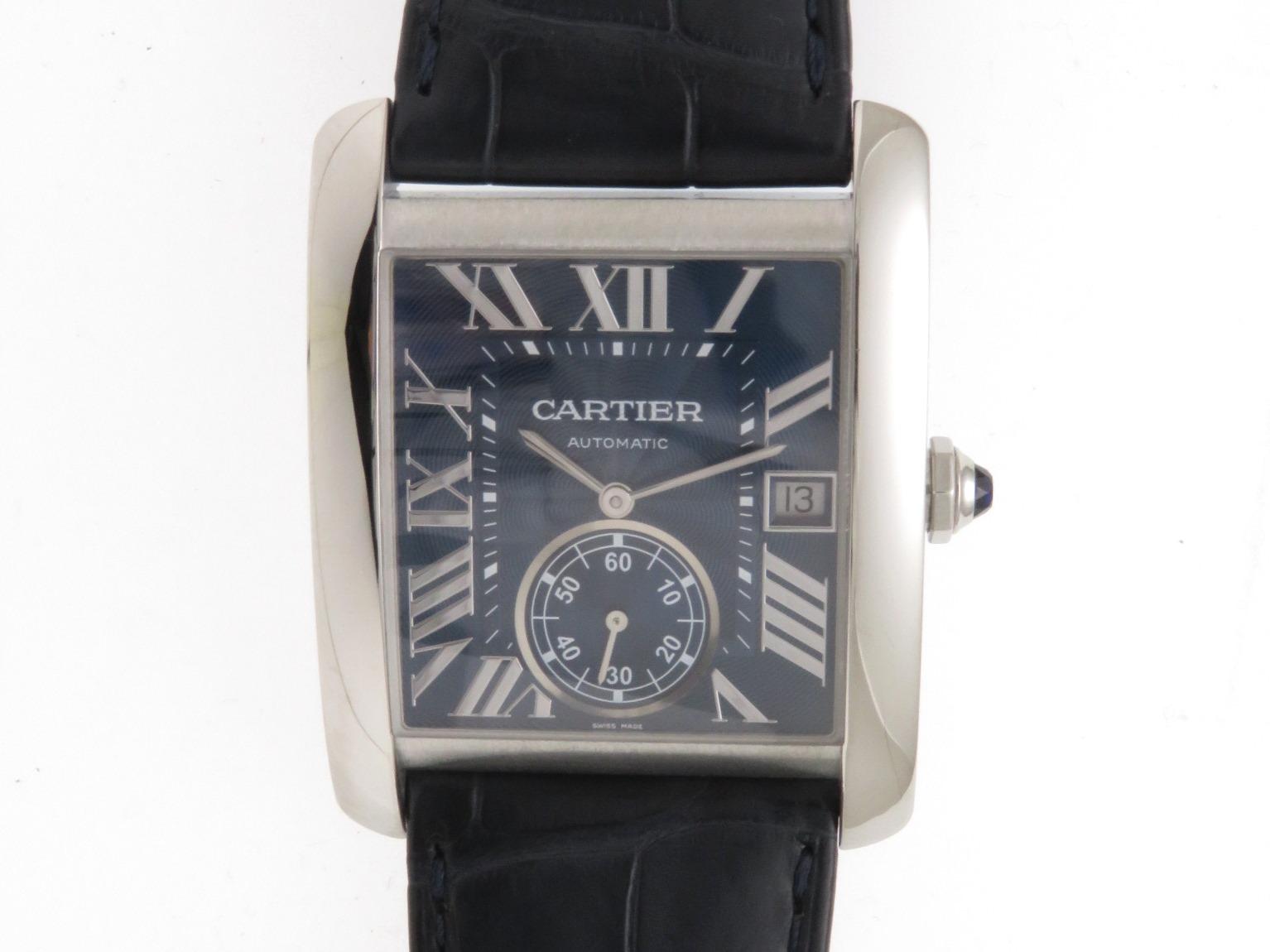 Cartier カルティエ タンクMC WSTA0010 自動巻き ネイビー/青文字盤 メンズ時計 【434】2148103228537