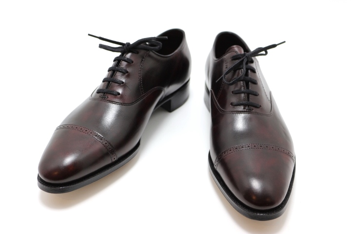 JOHN LOBB ジョンロブ 革靴 フィリップ2 PHILIPII メンズ7ハーフ 約26cm バーガンディー レザー 定価:¥264,000 2148103166020【200】