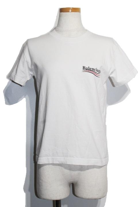 BALENCIAGA バレンシアガ 半袖Tシャツ レディースS ホワイト コットン (2148103257117)【432】