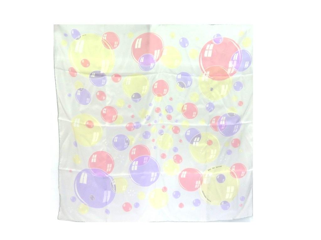 HERMES エルメス カレ90 bal de bulles ライトグリーン シルク 衣料品 TM2【472】