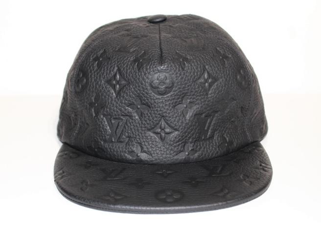 LOUIS VUITTON ルイヴィトン キャスケット 帽子 モノグラム クイル1.0 モノグラム ブラック レザー MP2320 2018年 (2143700125838)【200】