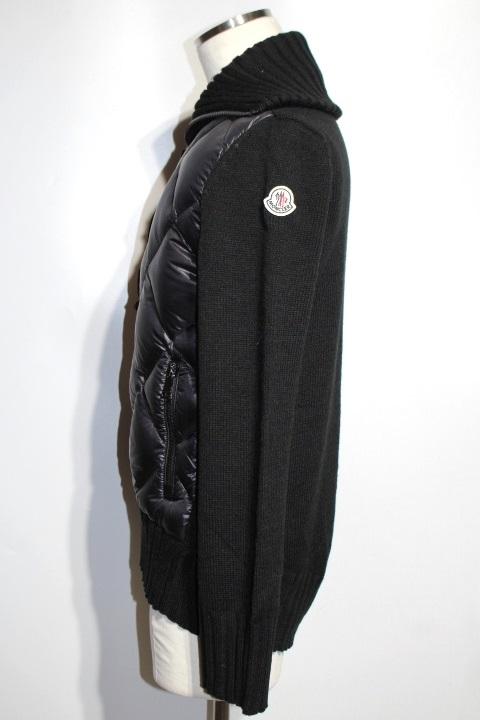 MONCLER  モンクレール ブルゾン ダウンジャケット メンズM CARDIGAN TRICOT ブラック ナイロン ウール 2021年 (2148103388477) image number 2